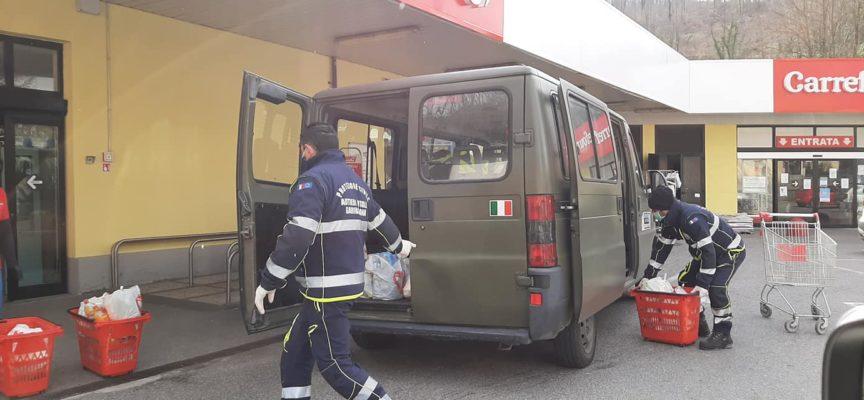 PROTEZIONE CIVILE – Incrementato oggi il servizio dell ' Assistenza alla popolazione con la consegna a domicilio organizzata presso le Frazioni .