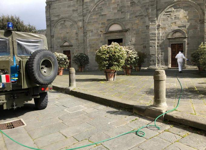 Effettuata IERI a Castelnuovo da parte della Protezione Civile la sanificazione