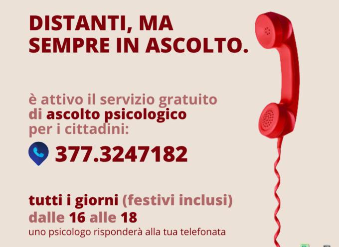 ALTOPASCIO – È attivo il servizio di ascolto psicologico gratuito aperto a tutti e gestito da uno psicologo professionista.