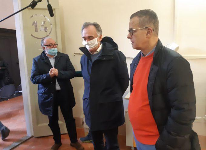 Coronavirus, Rossi a Pistoia per visitare il nuovo reparto di cure intermedie e la CROSS