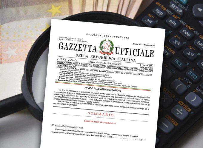 DECRETO CURA ITALIA / Il focus Cia – Agricoltori Italiani Toscana con la sintesi dei provvedimenti contenuti nel decreto legge 17 marzo 2020 n. 18