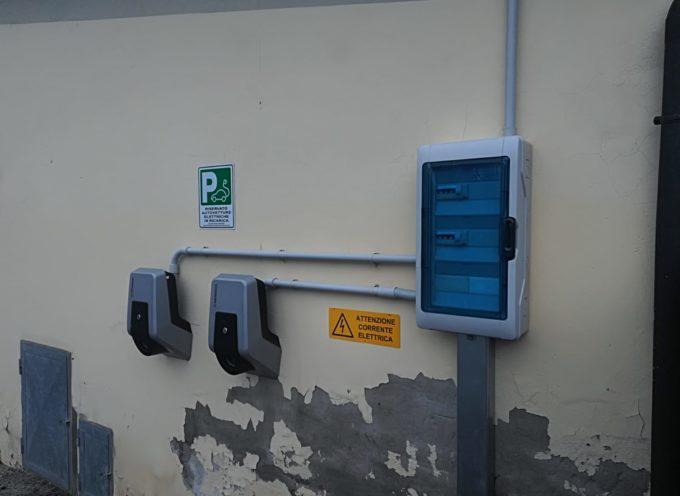 Installate due colonnine per le auto elettriche