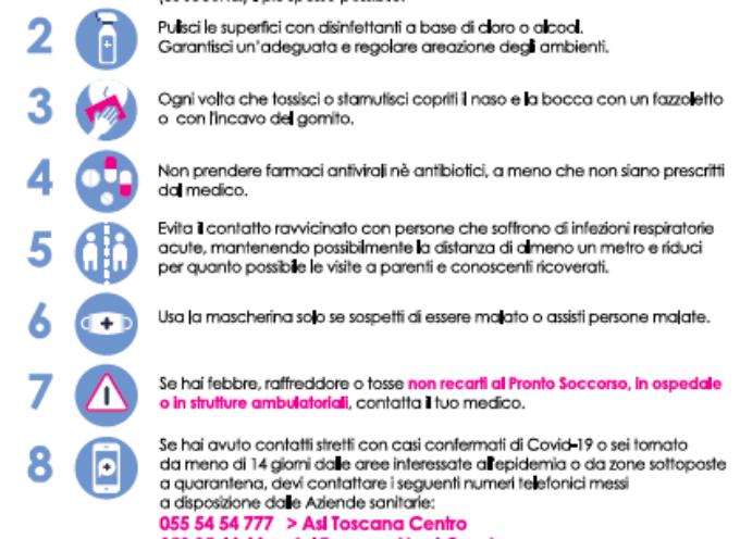 CORONAVIRUS. 10 COMPORTAMENTI DA SEGUIRE