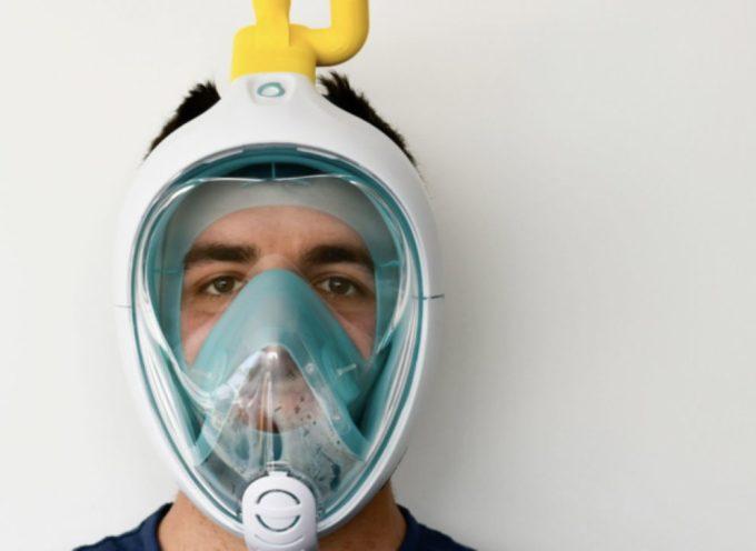 Coronavirus: un ingegnere italiano riesce a trasformare le maschere da sub di Decathlon in respiratori