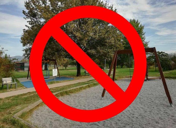 A Capannori chiusi da oggi e fino al 25 marzo tutti i parchi pubblici, i parchi gioco e le aree verdi
