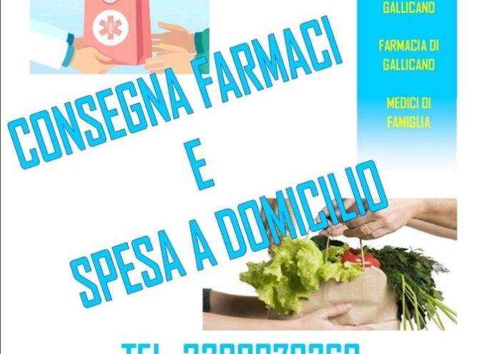 ATTIVO A GALLICANO UN SERVIZIO DI CONSEGNA FARMACI E SPESA A DOMICILIO