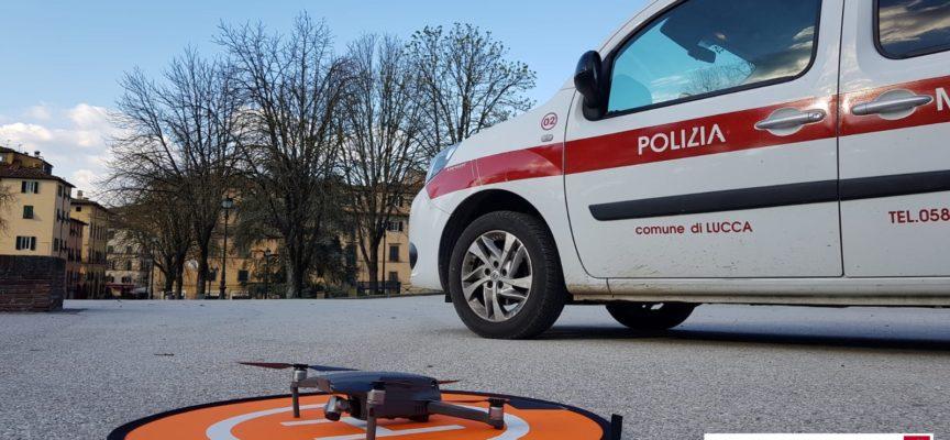 La Polizia Municipale attiva i controlli con i droni per far rispettare le norme Covid-19