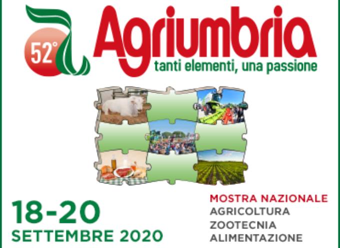 AGRIUMBRIA 2020 RINVIATA AL 18-20 SETTEMBRE