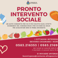 ALTOPASCIO – È attivo il Pronto intervento sociale del Comune,