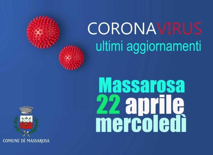 Massarosa – Coronavirus, aggiornamento 22 aprile