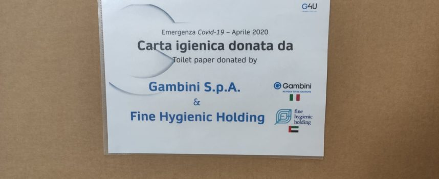 Gambini Spa consegna 12mila rotoli di carta igienica e sottoscrive un'assicurazione Covid-19 per i dipendenti