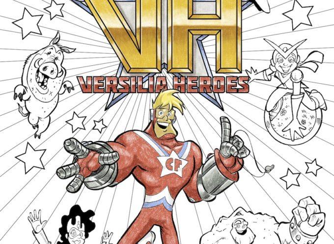 Didattica: gratis online l'album da colorare dei Versilia Heroes