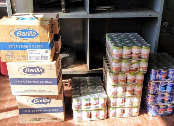 L'associazione Antico Borgo Gualdo distribuisce generi alimentari