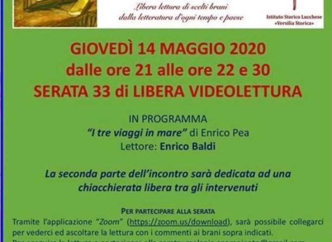 Istituto Versilia Storica – Giovedì 14 maggio, ore 21.00, appuntamento con la serata di videolettura