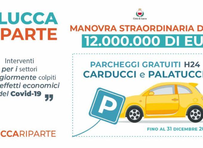 LUCCA RIPARTE con parcheggi gratuiti, tariffe dei permessi agevolate e apertura della zona a traffico limitato.