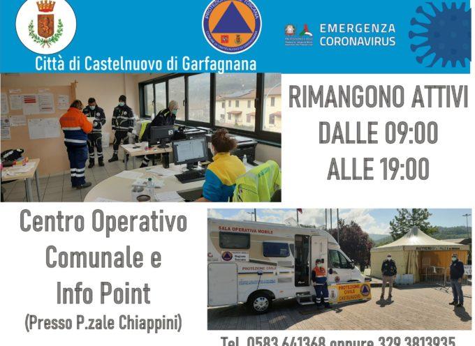 ancora attivi nel Comune di Castelnuovo di Garfagnana il Centro Operativo Comunale