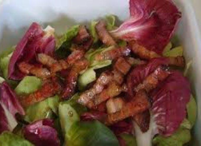 Il cibo frugale di campagna: i radicchi con i bruciatini.