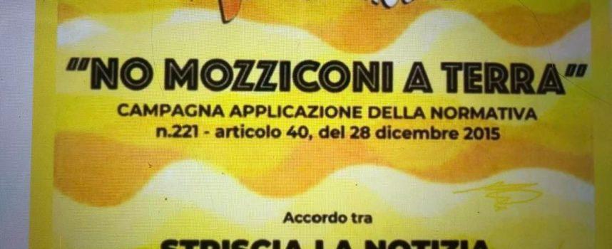 """""""Aderiamo alla campagna nazionale 'No mozziconi a terra' lanciata da Striscia La Notizia""""."""