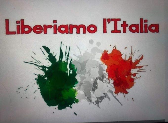 Lavoro, reddito, libertà – Liberiamo l'Italia manifesta contro la politica del governo Conte