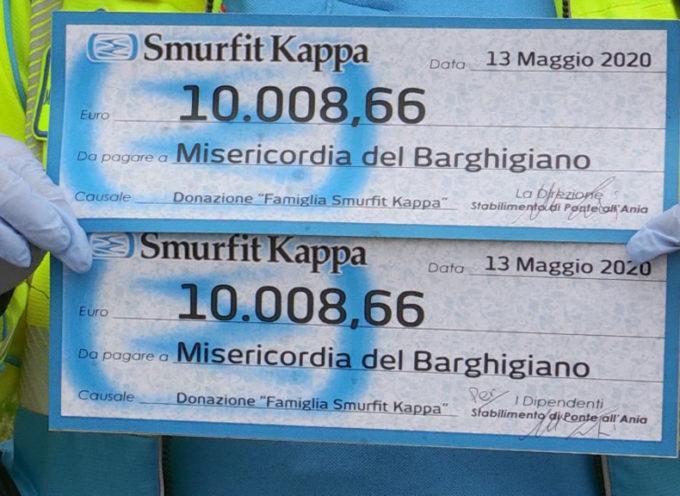 Dalla Smurfit Kappa di Ponte all'Ania 20 mila euro alla Misericordia del Barghigiano