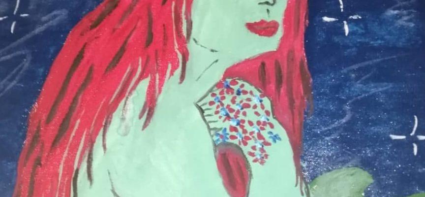 Il mito della Sirena di Viareggio rivive nella pittura dell'artista Nadine.