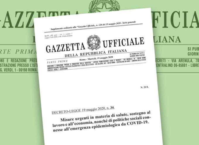Decreto Rilancio in Gazzetta Ufficiale. Il testo completo del DL 34/2020