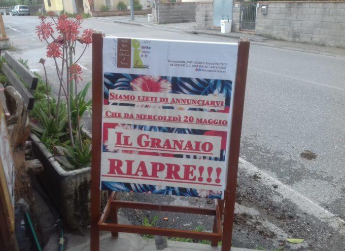 IL RISTORANTE IL GRANAIO E' RIAPERTO NEL RISPETTO DELLE REGOLE, A SAN PIETRO A VICO