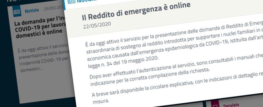 Rem, Reddito di emergenza. Via libera alle domande