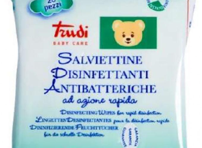 Esselunga richiama le salviette disinfettanti antibatteriche TRUDI BABY CARE
