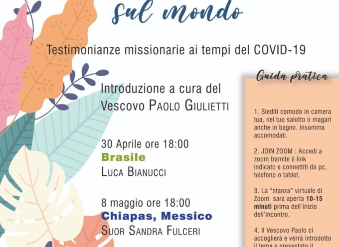 "CENTRO MISSIONARIO DIOCESANO Secondo appuntamento con ""Zoom sul mondo"""