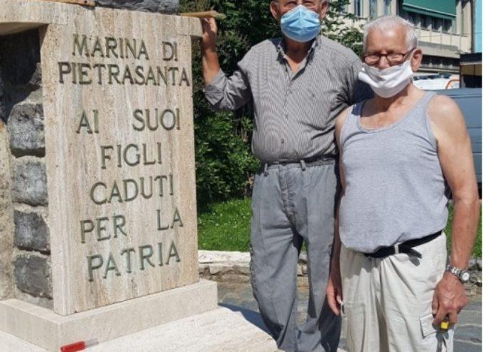 gli Alpini di Pozzi restaurano Monumento Caduti a Tonfano