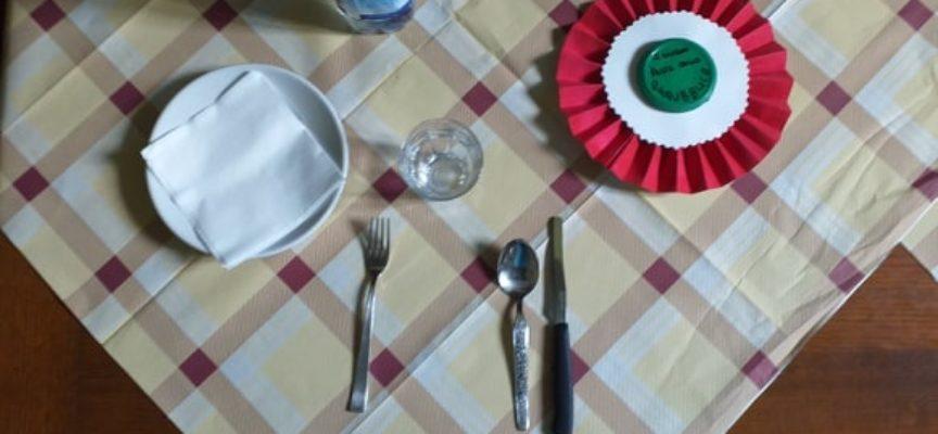 """IERI gli anziani della nostra RSA Convento di S. Francesco avevano i posti a tavola con il segno della """"Festa della Repubblica"""""""