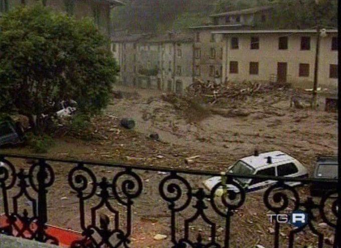 il 19 giugno 1996: una bomba d'acqua e una valanga di fango si abbatterono sull'Alta Versilia e la Garfagnana