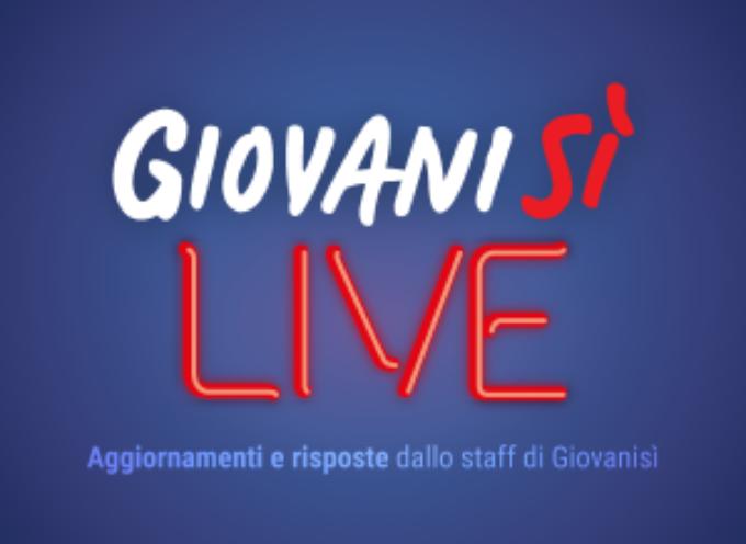 Giovanisì Live! Il 5/6 diretta Facebook su voucher per manager e coworker