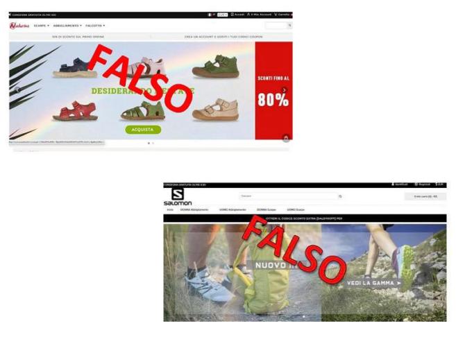 Nuove truffe telematiche: falsi siti online dei marchi Salomon e Naturino.