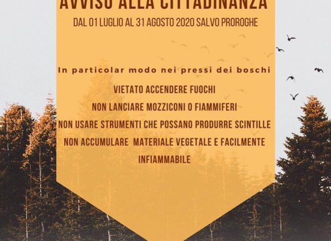 Prevenzione degli incendi boschivi: dal, 1º luglio, fino al 31 agosto (salvo proroghe)