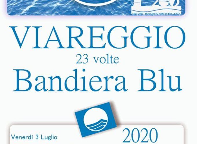 Ventitreesima bandiera blu consecutiva per la città di Viareggio.