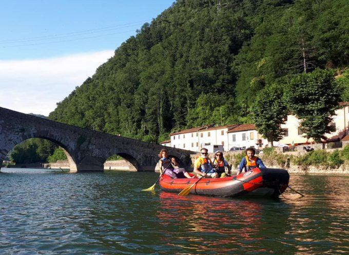Oggi abbiamo fatto le prove generali del rafting al Ponte del Diavolo.