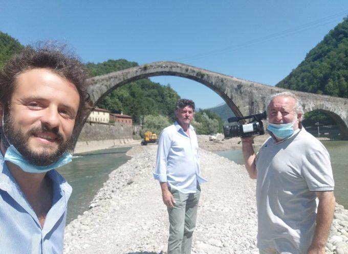 PATRIZIO ANDREUCCETTI – Poco fa sul cantiere del Ponte del Diavolo per un servizio che uscirà su NoiTv.