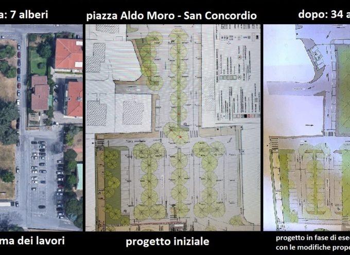 I fatti sui lavori di piazzale Aldo Moro a San Concordio: