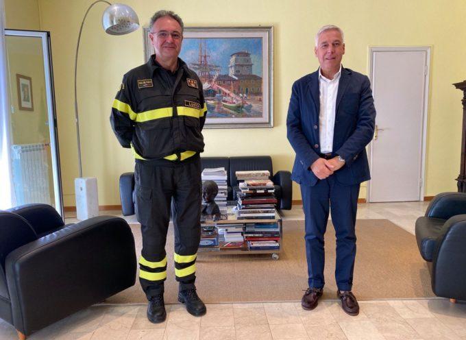 il sindaco Giorgio Del Ghingaro ha incontrato questa mattina il nuovo comandante dei vigili del fuoco di Lucca Luigi Gentiluomo.