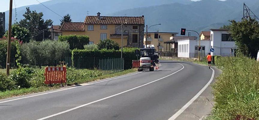 istallati – i punti luce lungo via della Madonnina a Santa Margherita.