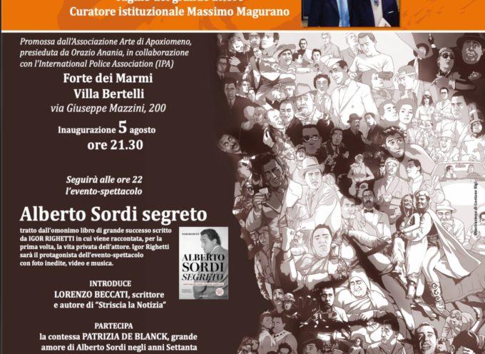 Mostra e spettacolo per i 100 anni di Alberto Sordi Si svolgeranno, con ingresso libero, il 5 agosto alle 21.30 a Villa Bertelli di Forte dei Marmi
