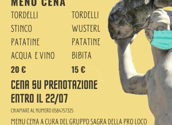 Pro Loco – Venerdì 24 e sabato 25 luglio, a Seravezza, Piazza Carducci, si riparte con gusto!