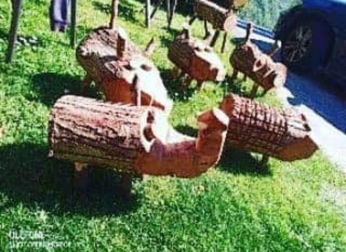 Levigliani – La meravigliosa idea dello ZooPark con gli animali scolpiti nel legno