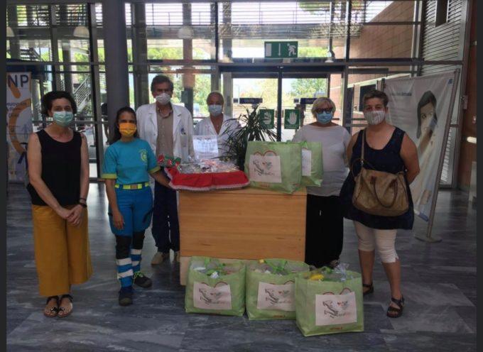 Donazione dell'associazione IoCreo per ringraziare il personale dell'ospedale Versilia