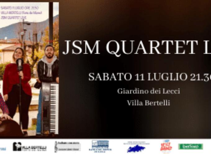 villa bertelli – SM Quartet nel concerto JSM Quartet Live – Appuntamento con la musica alla rassegna L'altra Villa