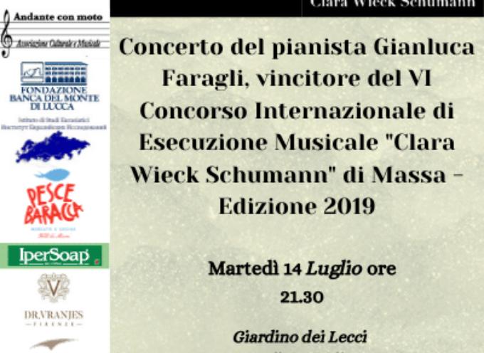 A L'altra Villa il concerto del giovane pianista Gianluca Faragli