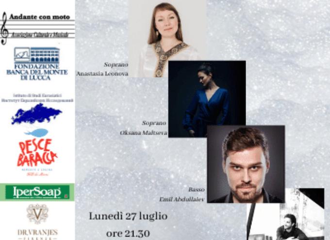Il concerto lirico Voci all'Opera alla rassegna L'altra Villa a Villa Bertelli Forte dei Marmi
