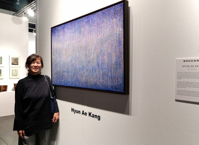 """la pittura meditativa """"Dansaekhwa"""" di Hyun Ae Kang a Palazzo Panichi,"""